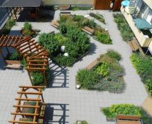 Огород на крыше наземного паркинга в Германии