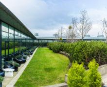Газон на крыше комплекса-хамелеона в Эдинбурге, Шотландия