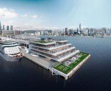 Озеленение террас океанского терминала в Гонконге