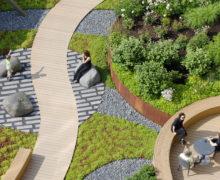 Роскошное озеленение террасы в Бостоне, США