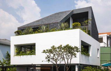 Интенсивное озеленение частного дома во Вьетнаме