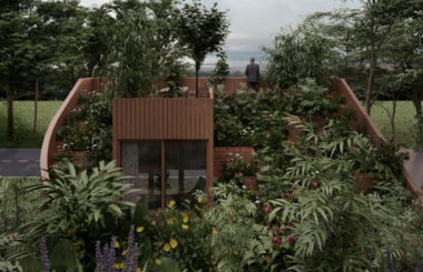 Сад на крыше с огородом: проект миниатюрного дома в Германии