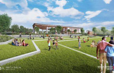 В Атланте начали строительство кафе на крыше парковки и парка