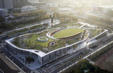 Ландшафт на крыше нового музея Победы в Китае